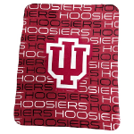 Indiana University Classic Fleece Blanket w/ Officially Licensed Team Logo
