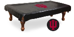 Indiana Pool Table Cover w/ Hoosiers Logo - Black Vinyl