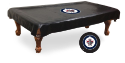 Winnipeg Pool Table Cover w/ Jets Logo - Black Vinyl