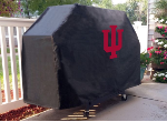 Indiana Grill Cover with Hoosiers Logo on Black Vinyl