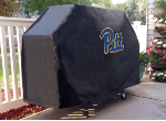Pittsburgh Grill Cover with Panthers Logo on Black Vinyl