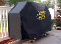 Wichita State Grill Cover with Shockers Logo on Black Vinyl