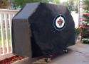 Winnipeg Grill Cover with Jets Logo on Black Vinyl