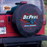 DePaul University Tire Cover with Blue Demons Logo