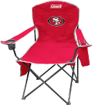 San Francisco 49ers Coleman XL Quad Canvas Chair