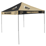 Purdue Tent w/ Boilermakers Logo - 9 x 9 Checkerboard Canopy