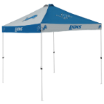 Detroit Tent w/ Lions Logo - 9 x 9 Checkerboard Canopy