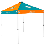 Miami Tent w/ Dolphins Logo - 9 x 9 Checkerboard Canopy