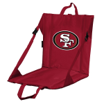 San Francisco Stadium Seat w/ 49ers Logo - Cushioned Back