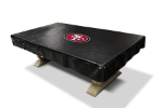 San Francisco Pool Table Cover w/ 49ers Logo - Black Naugahyde