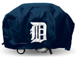 Detroit Grill Cover with Tigers Logo on Blue Vinyl - Economy