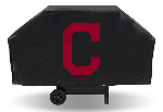 Cleveland Grill Cover with Indians Logo on Black Vinyl - Economy