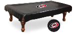 Carolina Pool Table Cover w/ Hurricanes Logo - Black Vinyl