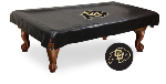Colorado Pool Table Cover w/ Buffaloes Logo - Black Vinyl