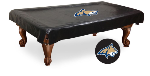 Montana State Pool Table Cover w/ Bobcats Logo - Black Vinyl