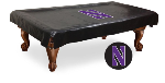Northwestern Pool Table Cover w/ Wildcats Logo - Black Vinyl
