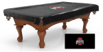 Ohio State Pool Table Cover w/ Buckeyes Logo - Black Vinyl