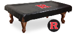 Rutgers Pool Table Cover w/ Scarlet Knights Logo - Black Vinyl