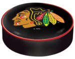 Chicago Blackhawks Bar Stool Seat Cover - Black