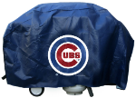 Chicago Grill Cover with Cubs Logo on Blue Vinyl - Deluxe