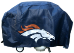 Denver Grill Cover with Broncos Logo on Blue Vinyl - Deluxe