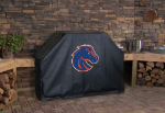 Boise State Grill Cover with Broncos Logo on Black Vinyl