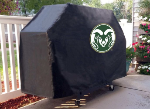 Colorado State Grill Cover with Rams Logo on Black Vinyl