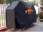 Iowa State Grill Cover with Cyclones Logo on Black Vinyl