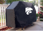 Kansas State Grill Cover with Wildcats Logo on Black Vinyl