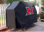 Miami Grill Cover with Redhawks Logo on Black Vinyl