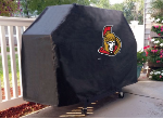 Ottawa Grill Cover with Senators Logo on Black Vinyl
