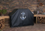 Naval Academy Grill Cover with Military Logo on Black Vinyl