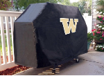 Washington Grill Cover with Huskies Logo on Black Vinyl