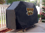 Western Michigan Grill Cover with Broncos Logo on Black Vinyl