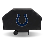 Indianapolis Grill Cover with Colts Logo on Black Vinyl - Economy