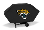 Jacksonville Grill Cover with Jaguars Logo on Black Vinyl - Economy