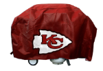 Kansas City Grill Cover with Chiefs Logo on Red Vinyl - Economy
