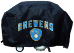 Milwaukee Grill Cover with Brewers Logo on Black Vinyl - Economy
