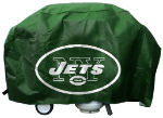 New York Grill Cover with Jets Logo on Green Vinyl - Deluxe