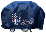 New York Grill Cover with Mets Logo on Black Vinyl - Deluxe