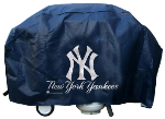 New York Grill Cover with Yankees Logo on Blue Vinyl - Deluxe