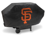 San Francisco Grill Cover with Giants Logo on Black Vinyl - Deluxe