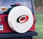 Carolina Tire Cover with Hurricanes Logo on White Vinyl
