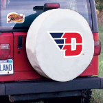 Dayton Tire Cover with Flyers Logo on White Vinyl