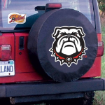 Georgia Tire Cover with Bulldogs Logo on Black Vinyl
