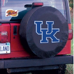 Kentucky Tire Cover with Wildcats 'UK' Logo on Black Vinyl