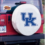 Kentucky Tire Cover with Wildcats 'UK' Logo on White Vinyl