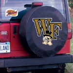 Wake Forest Tire Cover with Demon Deacons Logo on Black
