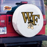 Wake Forest Tire Cover with Demon Deacons Logo on White