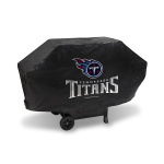 Tennessee Grill Cover with Titans Logo on Black Vinyl - Deluxe